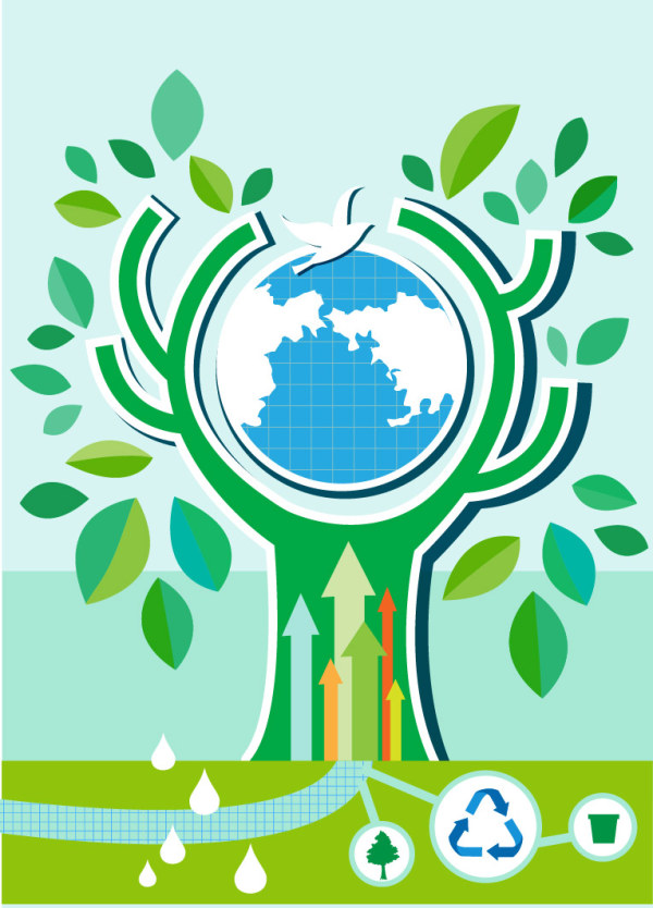 Energy with Environment infographics vector 03