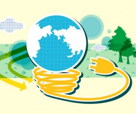 Energy with Environment infographics vector 04