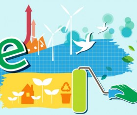 Energy with Environment infographics vector 09