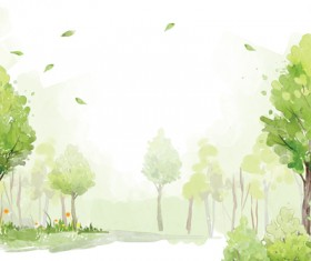 Watercolor Forest psd