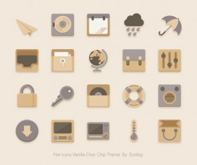 Vintage style flat icons psd 01