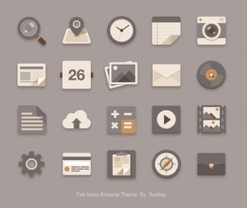 Vintage style flat icons psd 02