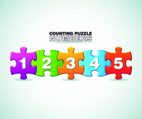 puzzle with number vector 02