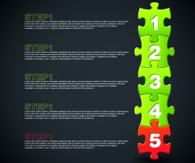 puzzle with number vector 04