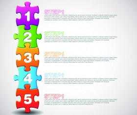 puzzle with number vector 05