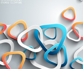 3D Paper background vector design 07