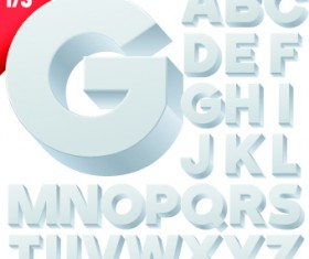 Creative 3d letters vector set 02