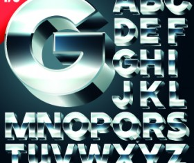 Creative 3d letters vector set 03