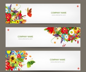 Beautiful floral banner vector 02