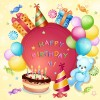 Cartoon Birthday cards design vector 02