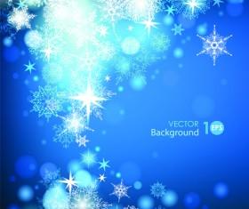 Snowflake blue christmas background 01