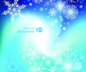 Snowflake blue christmas background 02