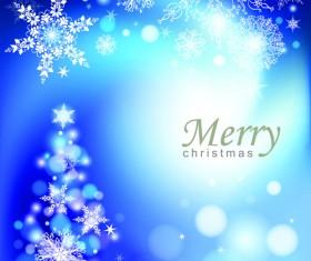 Snowflake blue christmas background 03