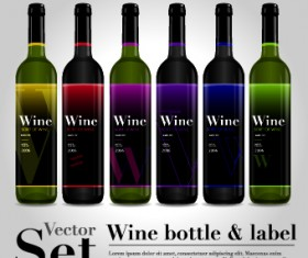 Different bottle design vector 01