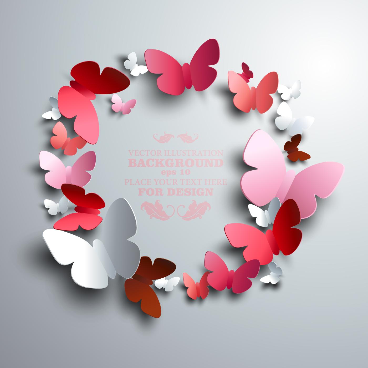 Paper butterflies vector backgrounds 04 - Vector Animal, Vector ...: freedesignfile.com/75780-paper-butterflies-vector-backgrounds-04
