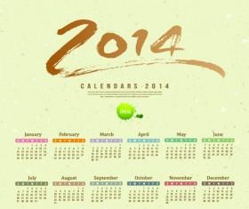 Calendar 2014 vector huge collection 10