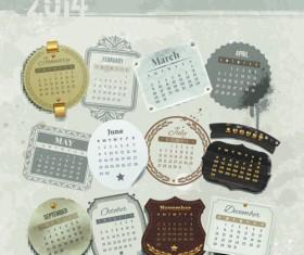 Calendar 2014 vector huge collection 11