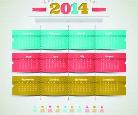 Calendar 2014 vector huge collection 13