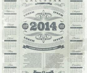 Calendar 2014 vector huge collection 14