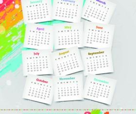 Calendar 2014 vector huge collection 15