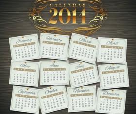 Calendar 2014 vector huge collection 16