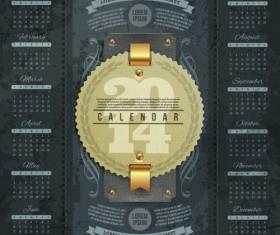 Calendar 2014 vector huge collection 19