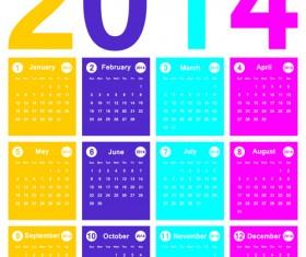 Calendar 2014 vector huge collection 02
