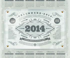Calendar 2014 vector huge collection 20