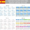 Spanish Version Calendar 2014 vector 01