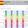 Spanish Version Calendar 2014 vector 02