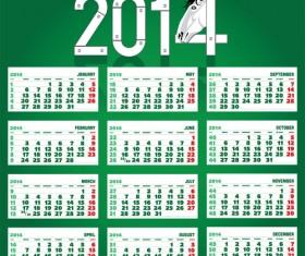 Calendar 2014 Horse design vector 10