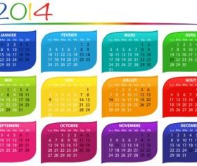 Calendar 2014 vector huge collection 25
