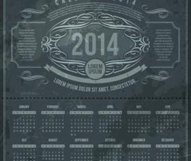 Calendar 2014 vector huge collection 22