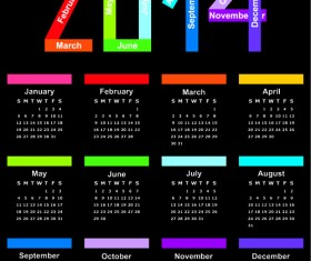 Calendar 2014 vector huge collection 04