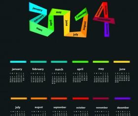 Calendar 2014 vector huge collection 06