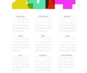Calendar 2014 vector huge collection 07