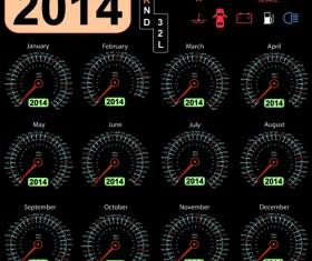 Calendar 2014 vector huge collection 08