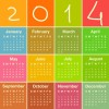 Calendar 2014 vector huge collection 09