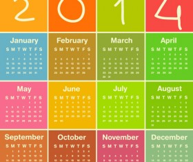 Calendar 2014 vector huge collection 09