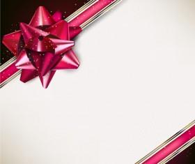 Bow christmas cards vector 03