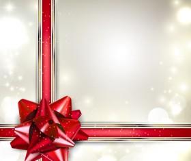 Bow christmas cards vector 04