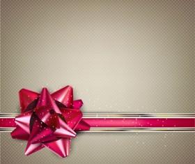 Bow christmas cards vector 05