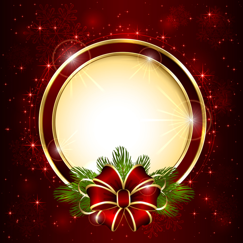 Bright christmas backgrounds vector 01