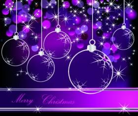 Glowing Christmas ball design vector 02