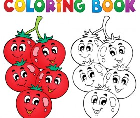 Coloring book vector set 02
