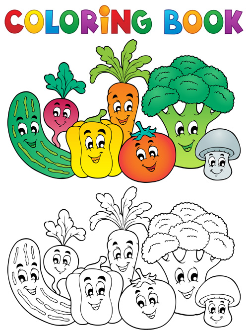 Galerry fruit vegetable coloring