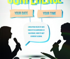Creative conference poster vector 01