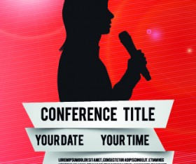 Creative conference poster vector 03