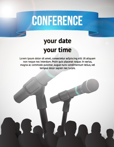 Creative conference poster vector 05