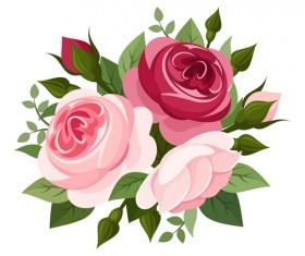 Elegant flowers bouquet vector 03